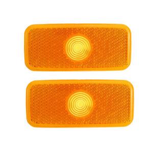 2x FOR FORD TRANSIT MK6 MK7 00-2014 Side Marker Light Amber Lamp Reflector Lens
