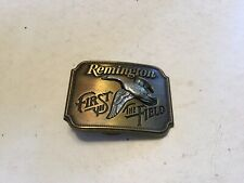 "Vintage Remington Belt Buckle 1980 Canada Goose ""First in the Field"" New Mint!!"