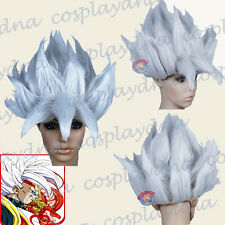 Goku Costume Silver Halloween Wigs (fits both adult and children) A5