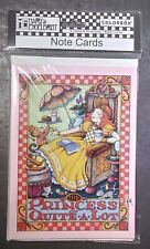 "Mary Engelbreit 8 Blank Note Cards W/ Envelopes ""The Princess Of A Lot"" Me 2004"