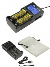 Xtar Ladegerät VC2 für Li-Ion Akkus - DISPLAY und USB Ladelkabel - 2 Kanal CCCV