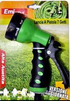 Canna Pistola Lancia per irrigazione con 7 ugelli giardino per innaffiare tubo