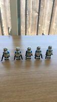 STAR WARS Lot Of 5 Custom 501st Jetpack Clone Trooper Minifigures FREE US SHIP