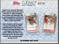 2019 TOPPS CLEARLY AUTHENTIC BASEBALL HOBBY BOX +1 MLB PLAYER SIGNED PIC PRESALE