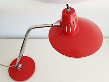 FASE : LAMPE DE BUREAU ROUGE ORIENTABLE SUR ROTULE 1960 1970 VINTAGE 60s 70s