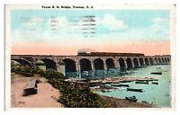 1925 Pennsylvania Railroad Bridge, Trenton, NJ Postcard *5F(3)2