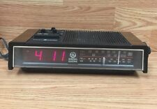 Vintage red LED General Electric 7-4680A ALARM CLOCK AM/FM RADIO WITH TV SOUND