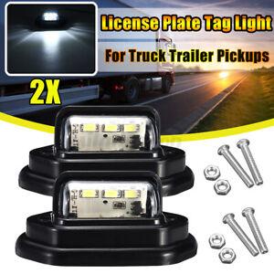 2x LED License Number Plate Light Truck Trailer Van UTE Caravan 10-30V Lamp AU