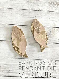 Verdure Earrings or Pendant Steel Rule Die for Sizzix Big Shot
