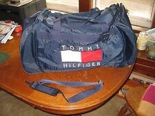 Vintage 90's TOMMY HILFIGER Huge Luggage Gym Sport SPELLOUT DUFFLE BAG Polo HUGE