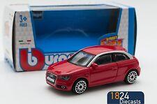 Audi A1 in Red, Bburago 18-30230, scale 1:43, toy car model gift boy