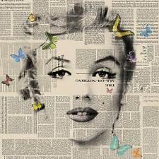 Veebee Marilyn Monroe Mariposas 4 edición limitada firmada impresión