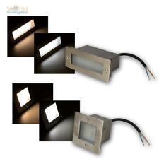 LED Wandeinbauleuchten Quadrat/Rechteck Treppenleuchte Sockelleuchte Edelstahl