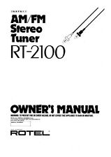 Rotel RT-2100 Tuner Owners Instruction Manual