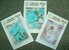 "3x DOLLS KNITTING PATTERNS 4 A *6"" DOLL*by DAISY-MAY*"