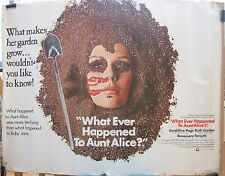 WHAT EVER HAPPENED TO AUNT ALICE(1969)Rare original rolled quad movie poster