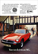 MG MGBGT 1975 RETRO POSTER A3 PRINT FROM CLASSIC ADVERT