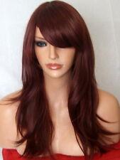 Red Brown Wig Fashion medium real natural wig Lady cheap Ladies Hair Wigs L18