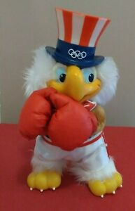 Vintage Applause 1980 Uncle Sam Olympic Eagle Boxing Vinyl Plush Figure w/ Tag