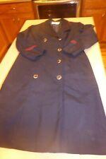 Vintage Brookhurst United Airlines Flight Attendant Stewardess Uniform Dress 14