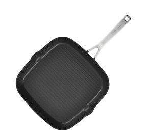 Anodized Induction Nonstick Square Grill Pan, 11.25-Inch, Matte Black