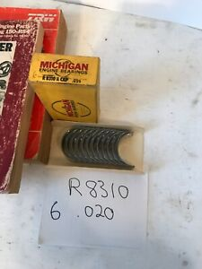 1964 02 AMC JEEP ROD BEARINGS .020 CJ5 CJ6 RENEGADE AMBASSADOR REBEL 232 304 360