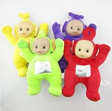 "Teletubbies Set of 4 Plush Soft Dolls 9"" Po, Dipsy, Laa Laa, and Tinky Winky"