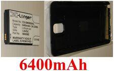 Coque  Noir + Batterie 6400mAh type B800BC B800BE Pour SAMSUNG Galaxy Note 3