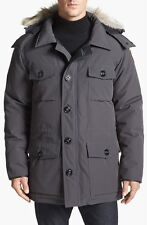 NWT CANADA GOOSE MEN'S BANFF PARKA #4074M (COLOR: GRAPHITE SIZE: X-SMALL)