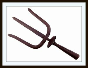 ANTIQUE ANCIENT CHINESE WARRIOR'S TRIDENT POLEARM SPEAR HEAD(sword dagger knife)