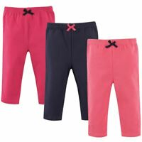 Luvable Friends Girl Toddler Leggings, 3-Pack, Pink and Navy