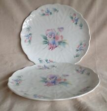 """2 X AYNSLEY SWEETHEART 10.5"""" DINNER PLATES EXCELLENT CONDITION"""
