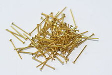 100x Kettelstift Prismenstift Nietstift gold, Länge 20 mm x Ø 0.80 mm, Schmuck