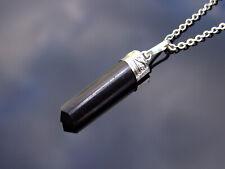 Black Tourmaline Crystal Hexa Point Pendant Natural Gemstone Necklace Healing St