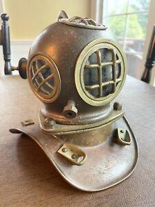 Vintage Antique Copper Brass Mini Sea Scuba Diver's Diving Suit Helmet Replica