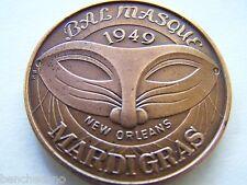 Rare 1973 KING BAL MASQUE XXIV Antique Bronze High Relief Mardi Gras Doubloon
