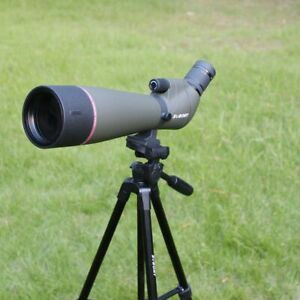Spotting Scope Waterproof Zoom Telescope Multi-coated Objective Lens Tripod