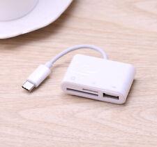 Type C SD TF Card Reader USB U Flash Disk OTG Adapter for iPAD Pro Samsung S8 S9