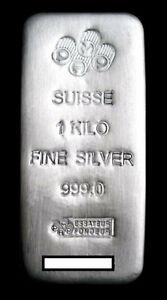 1kg PAMP Suisse 999 SILVER BAR with Assay Certificate - 1 Kilo Bullion Bar