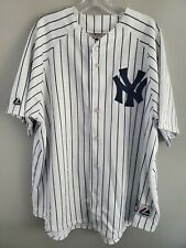 Vintage New York Yankees RANDY JOHNSON 41 Authentic Pinstripe Jersey Mens 2XL