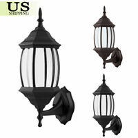 Retro Exterior Wall Light Fixture Aluminum Lantern Outdoor Garden Lamp Sconce