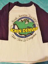 VTG Original 1980 John Denver T-shirt Med. Soft Cotton/Stored North America Tour