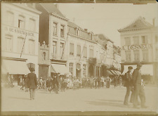 Belgique, Place à identifier   Vintage citrate print Tirage citrate  9x12