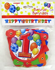 First Birthday Boy Girl Jointed 50 inch Hanging Banner Party Decoration 1st