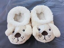 TAN PUPPY TODDLERS SNOOZIE COZY LITTLE FOOT COVERINGS SIZE LARGE 9/10