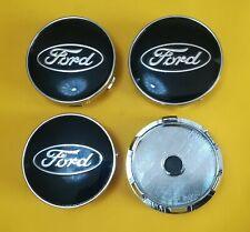 4 Tappi Coprimozzo COMPATIBILI FORD 60mm FIESTA FOCUS MONDEO Ford C-Max NERO