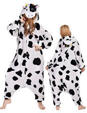 Cow Pajamas Onsie2 UnisexKigurumi Animal Cosplay Halloween Xmas Costume OutfitXL