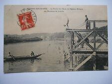 """CPA """"Nogent sur Marne - Le ponton de l'école de natation militaire des moniteurs"""