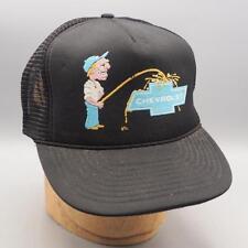 Vintage Pee on Chevrolet Mesh Snapback Trucker Hat Cap