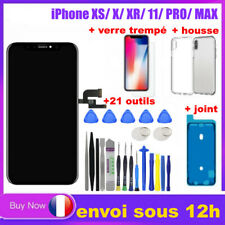ECRAN LCD VITRE TACTILE CHASSIS iPhone X/XR /XS 11 Max OLED + Outils Verre Joint